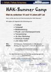 HAK Sommercamp - Anmeldung jetzt!
