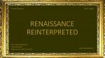 Renaissance reinterpreted | Prof. Gerti Hubmann | 5CHK